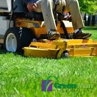 commercial mowing yellow mower - Landscape Maintenance